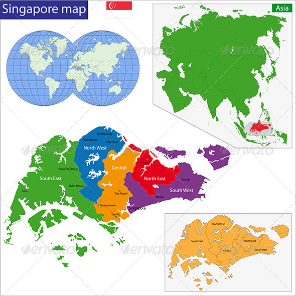 GraphicRiver Singapore Map 7188888