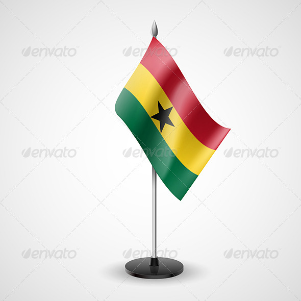 GraphicRiver Table Flag of Ghana 7188893