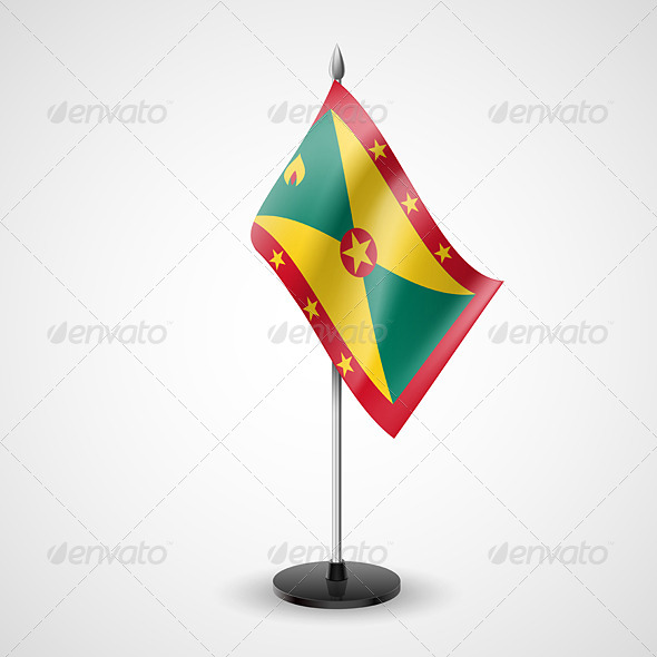 Table Flag of Grenada