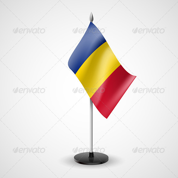 GraphicRiver Table Flag of Chad 7188900