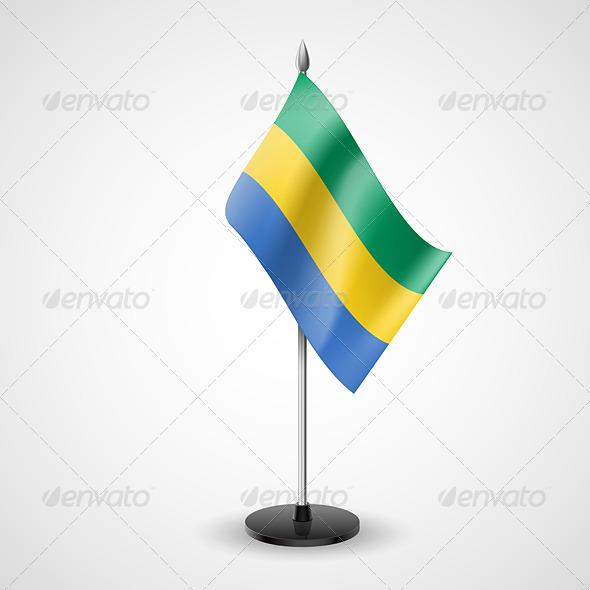 GraphicRiver Table Flag of Gabon 7188908