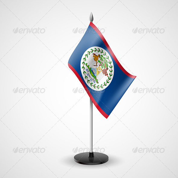 Table Flag of Belize