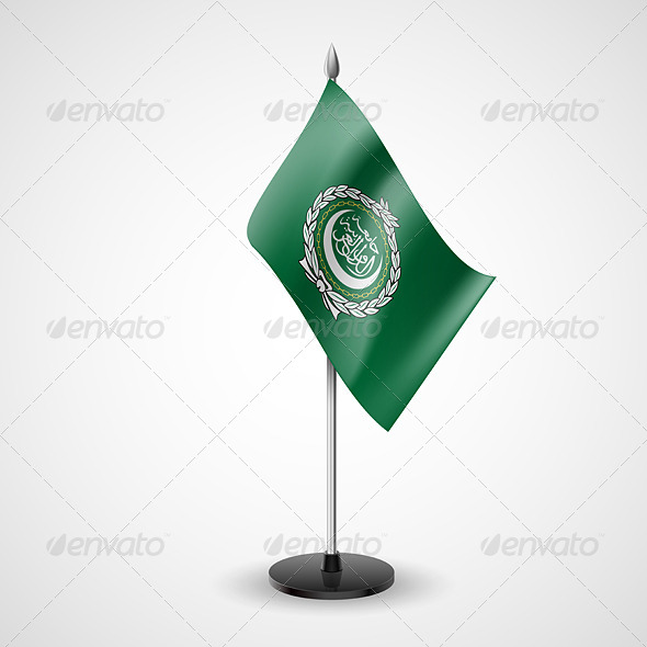 GraphicRiver Table Flag of Arab League 7189711
