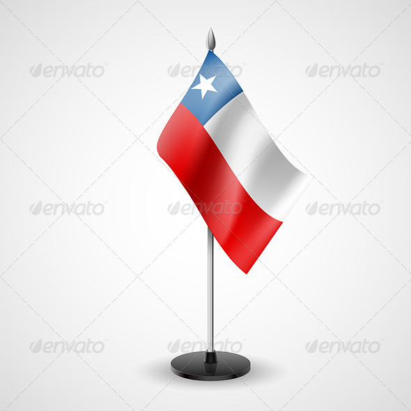 Table Flag of Chile