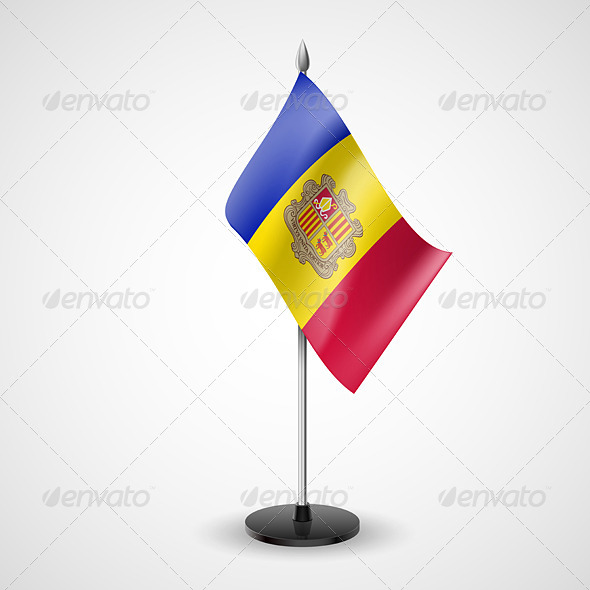 GraphicRiver Table Flag of Andorra 7190119