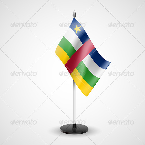 GraphicRiver Table Flag of Central African Republic 7190135