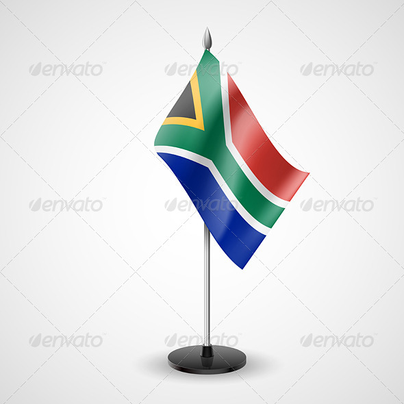 GraphicRiver Table Flag of South Africa 7190142