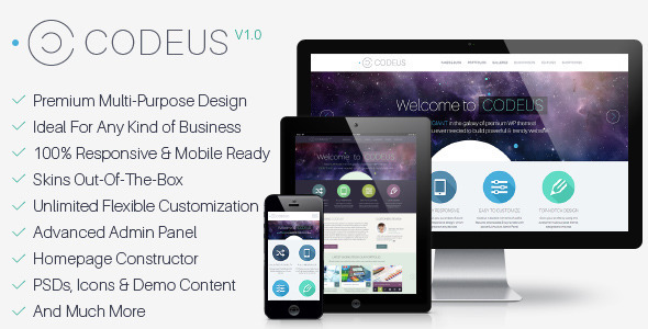 ThemeForest Codeus Multi-Purpose Responsive Wordpress Theme 6906054