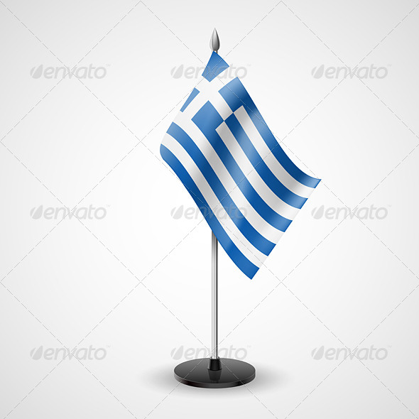 GraphicRiver Table Flag of Greece 7190399