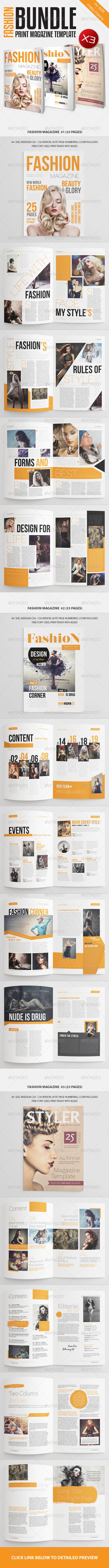 GraphicRiver Fashion Magazine Bundle Vol1 7190401