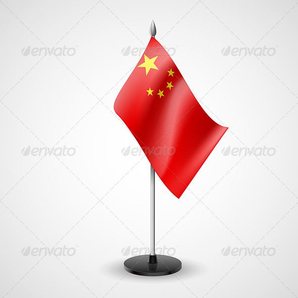 GraphicRiver Table Flag of China 7190403