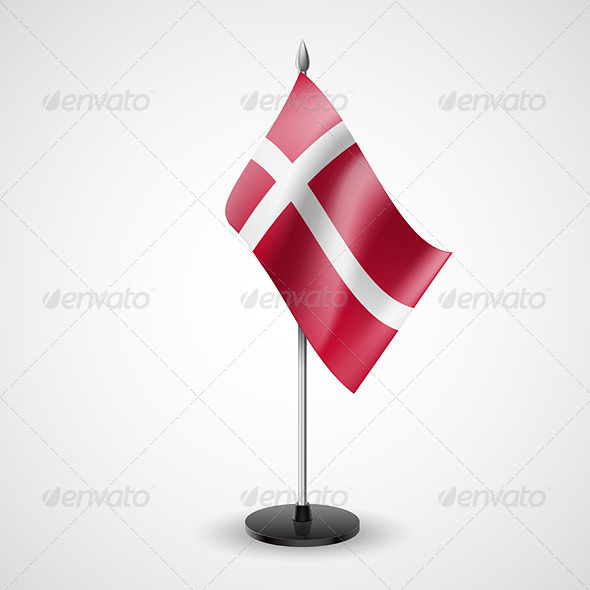 GraphicRiver Table Flag of Denmark 7190404