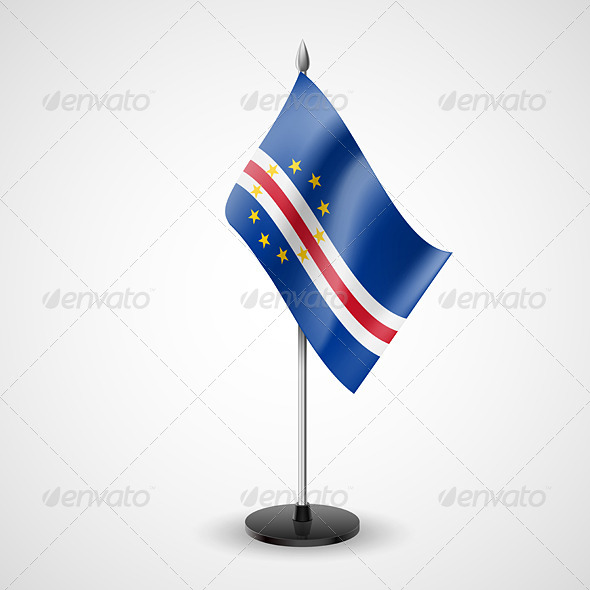 GraphicRiver Table Flag of Cape Verde 7190498
