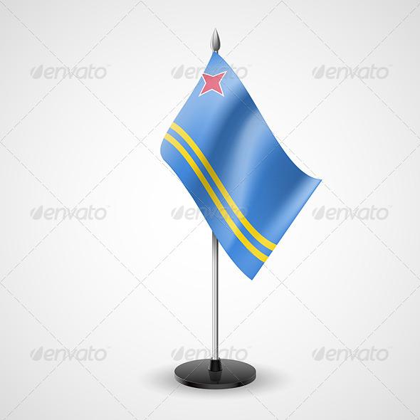 GraphicRiver Table Flag of Aruba 7190629