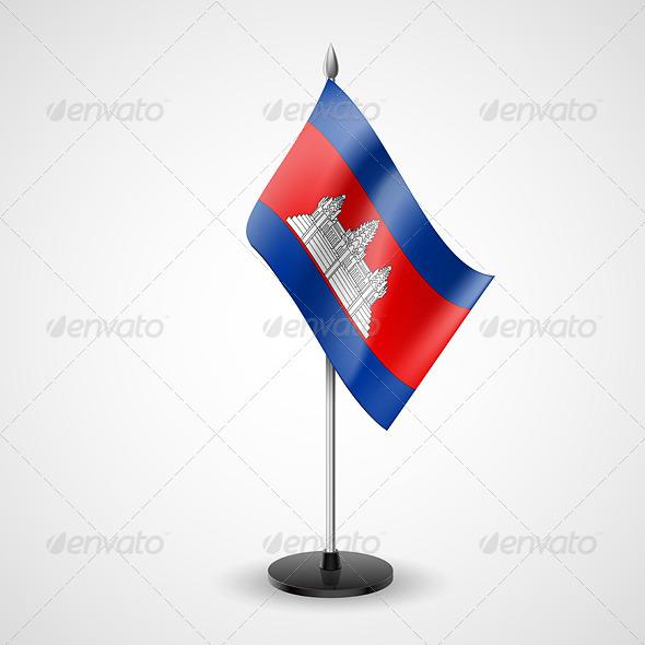 GraphicRiver Table Flag of Cambodia 7190633