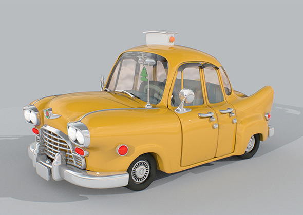 New York Checker Taxi - 3DOcean Item for Sale