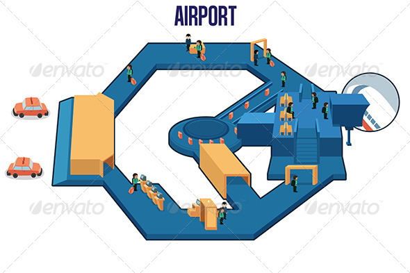 GraphicRiver Inside of an Airport 7159184