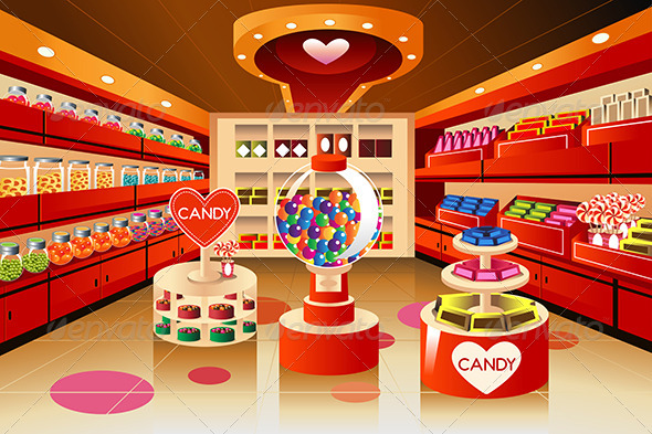 GraphicRiver Grocery Store Candy Section 7159473