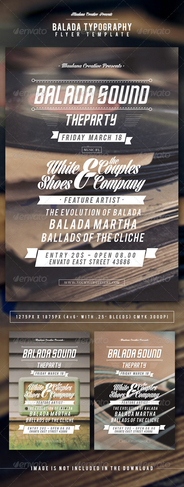 GraphicRiver Balada Typography Flyer Template 7104105