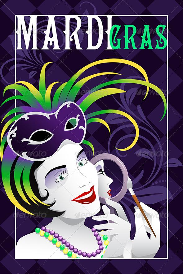 GraphicRiver Mardi Gras Poster 7159898