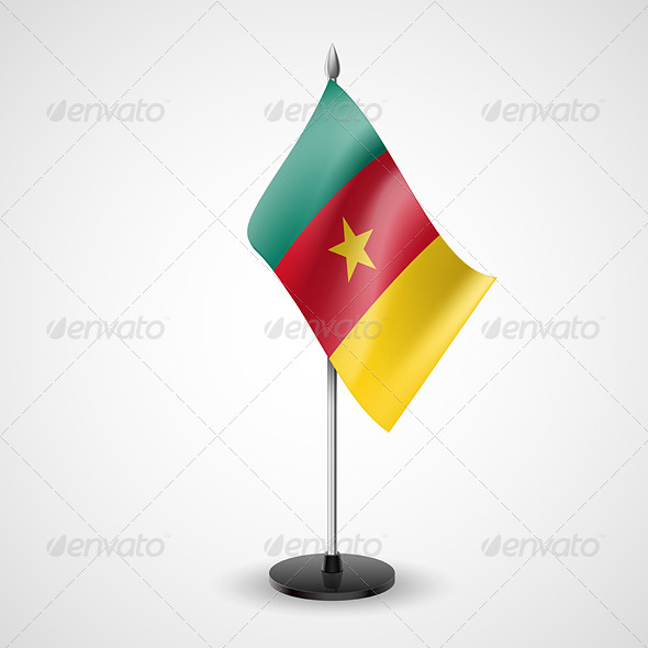GraphicRiver Table Flag of Cameroon 7190842