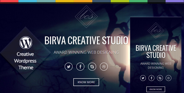 Birva - One Page Responsive Wordpress Theme - Portfolio Creative