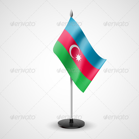 GraphicRiver Table Flag of Azerbaijan 7191061