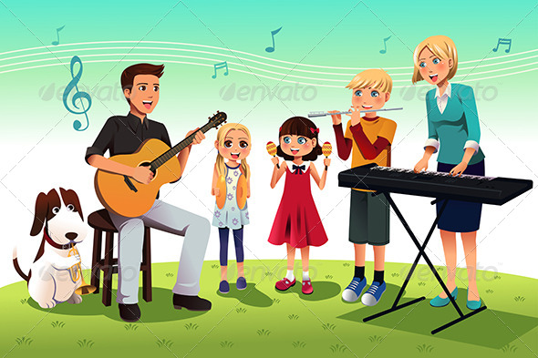GraphicRiver Family Playing Music 7191209