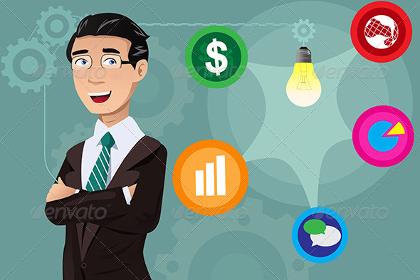 GraphicRiver Businessman Having an Idea Concept 7191213