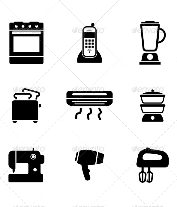 GraphicRiver Home Appliance Icons 7191273