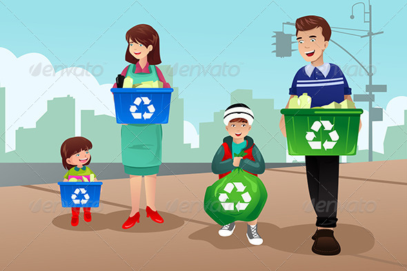 GraphicRiver Family Recycling 7191280