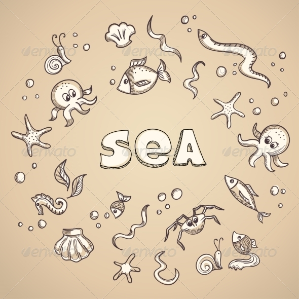 GraphicRiver Sea Life Elements 7191287