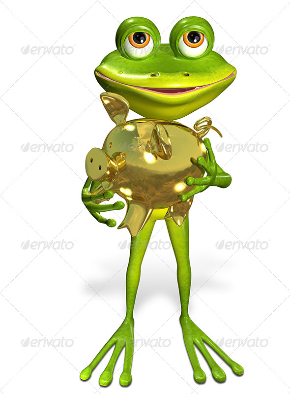 GraphicRiver Frog with Piggy Bank 7191315