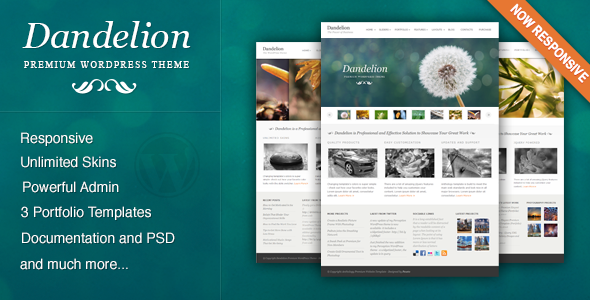 Dandelion Powerful Elegant WordPress Theme