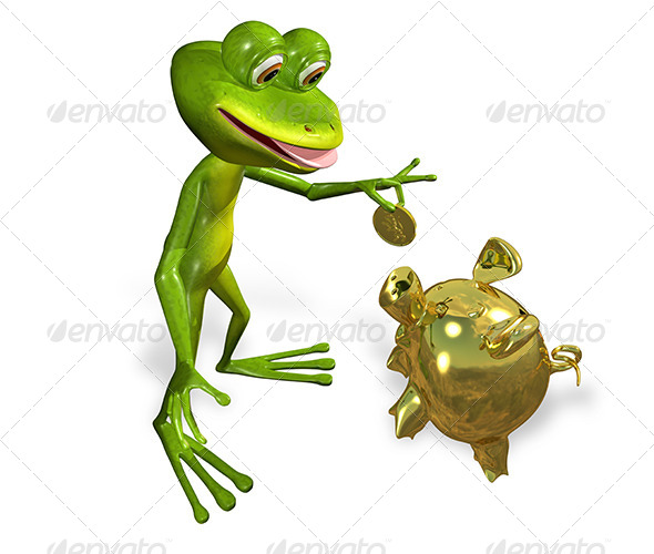 GraphicRiver Frog with Piggy Bank 7191384
