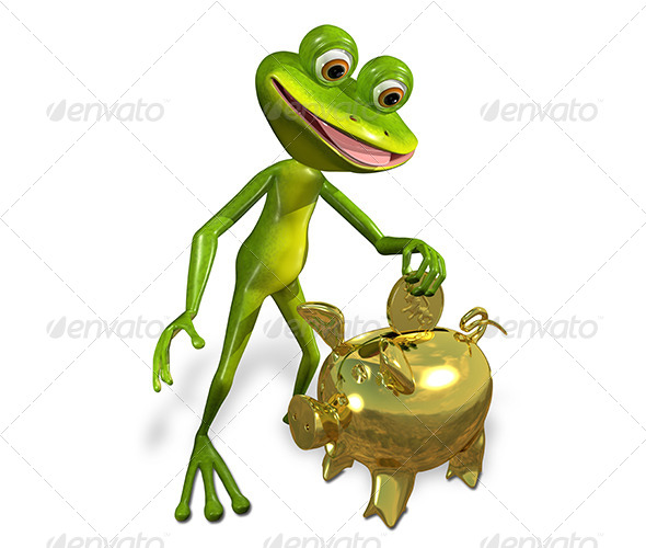 GraphicRiver Frog with Piggy Bank 7191397