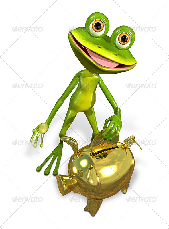 GraphicRiver Frog with Piggy Bank 7191424