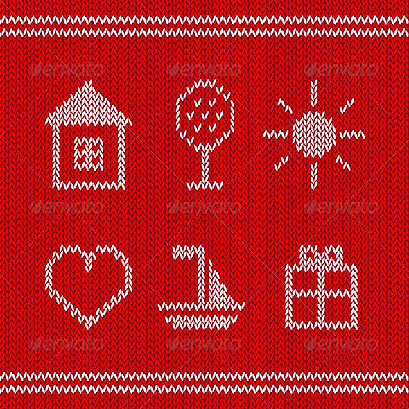 GraphicRiver Knitted Icons 7191552