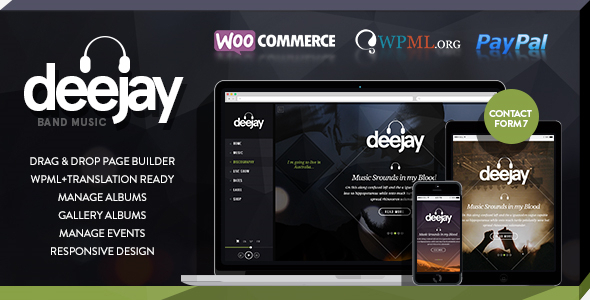 ThemeForest Deejay-Responsive Dj Events & Music Theme 7191702