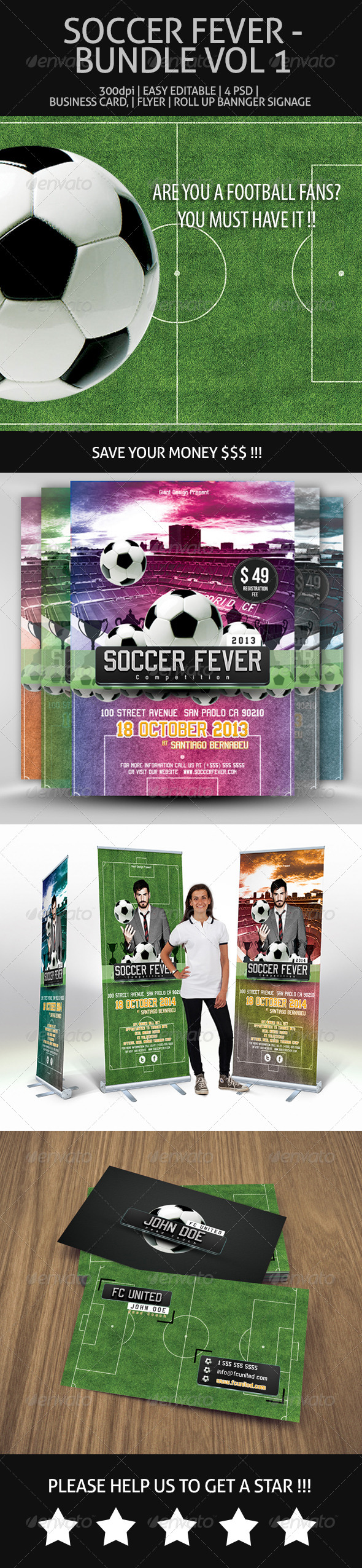 GraphicRiver Soccer Fever Bundle Vol 1 7191773