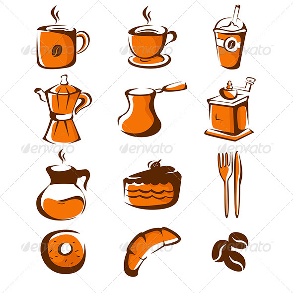 GraphicRiver Coffee Icons 7191788