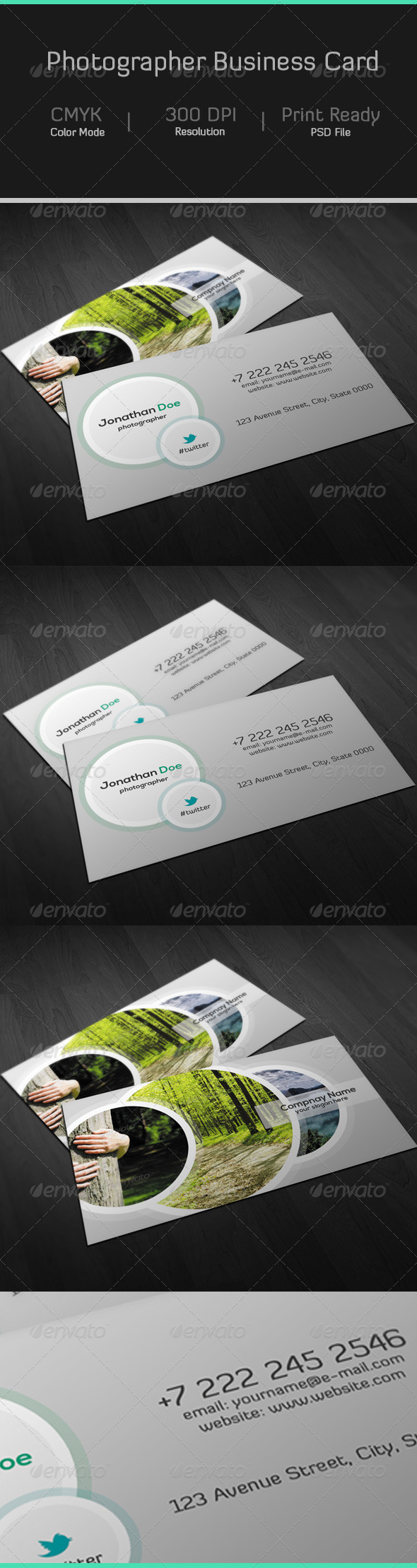 GraphicRiver Photographer Business Card 7191806