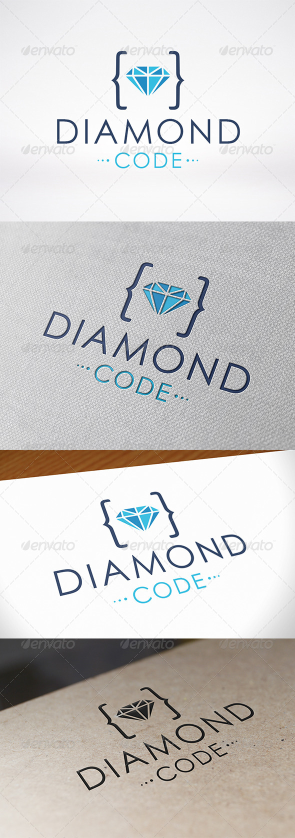 GraphicRiver Code Diamond Logo Template 7191809