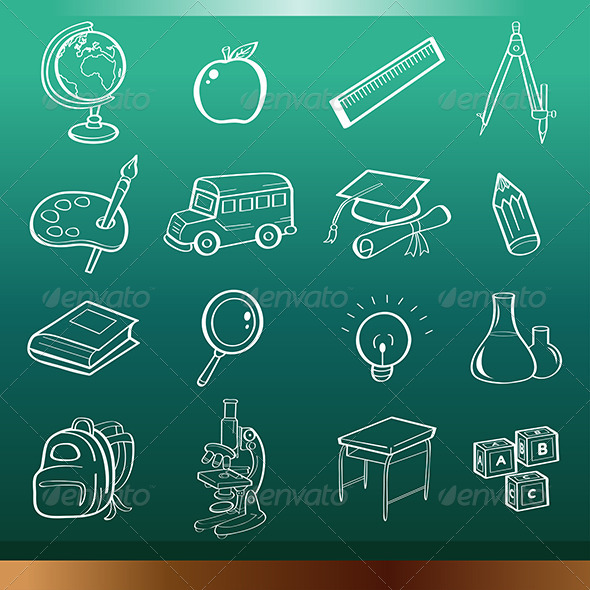 GraphicRiver Education Icons 7191810