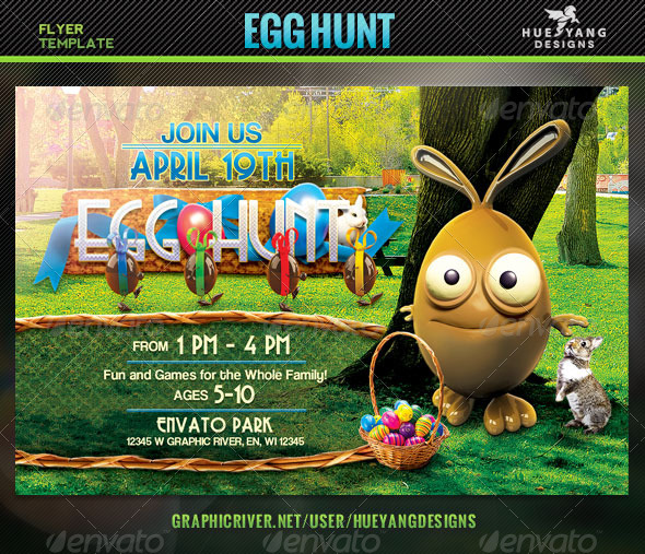 GraphicRiver Egg Hunt Flyer 7191812