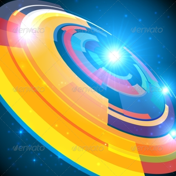 GraphicRiver Abstract Cosmic Shining Colorful Circle Frame 7191887