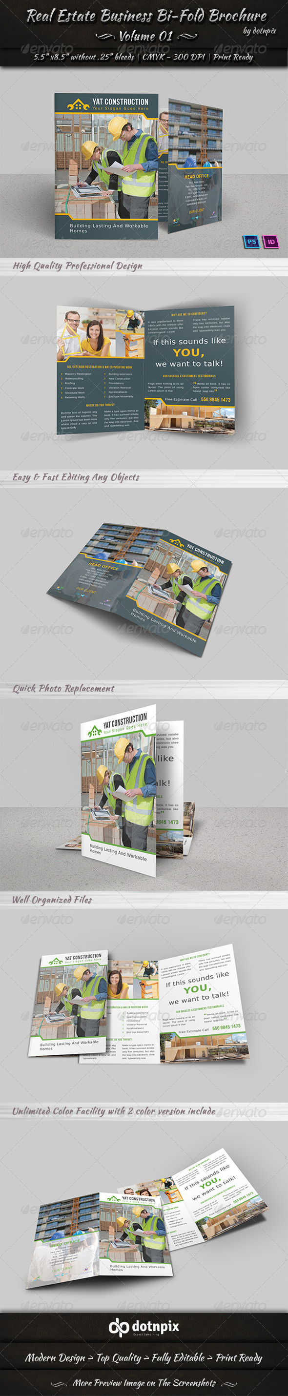 GraphicRiver Real Estate Business Bi-Fold Brochure Volume 1 7191912