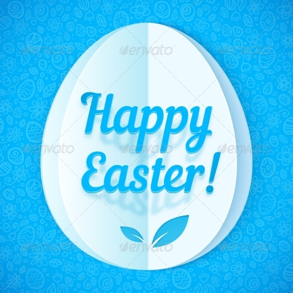 GraphicRiver Blue Paper Easter Egg 7191928