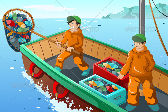 GraphicRiver Commercial Fisherman Fishing 7191971