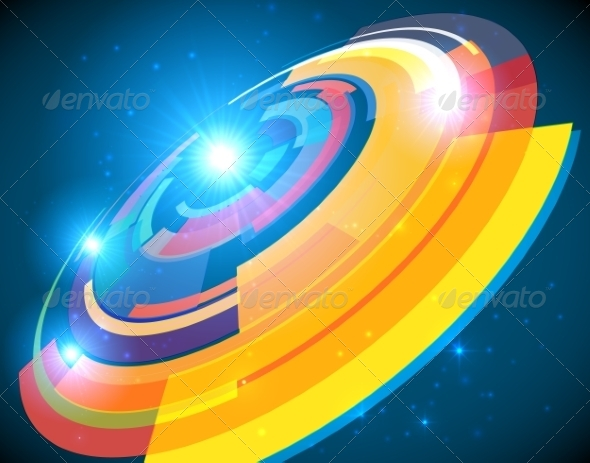 GraphicRiver Abstract Cosmic Shining Colorful Circle Frame 7192194